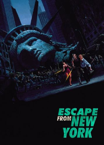 1980's Movie - ESCAPE FROM NEW YORK - P1 / canvas print - self adhesive poster - photo print